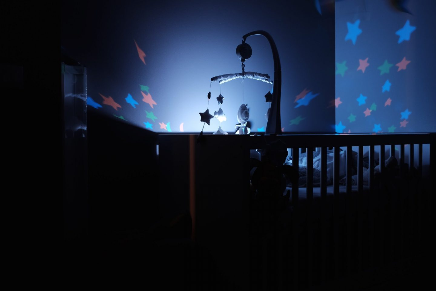 baby nursery at night mobile nightlight