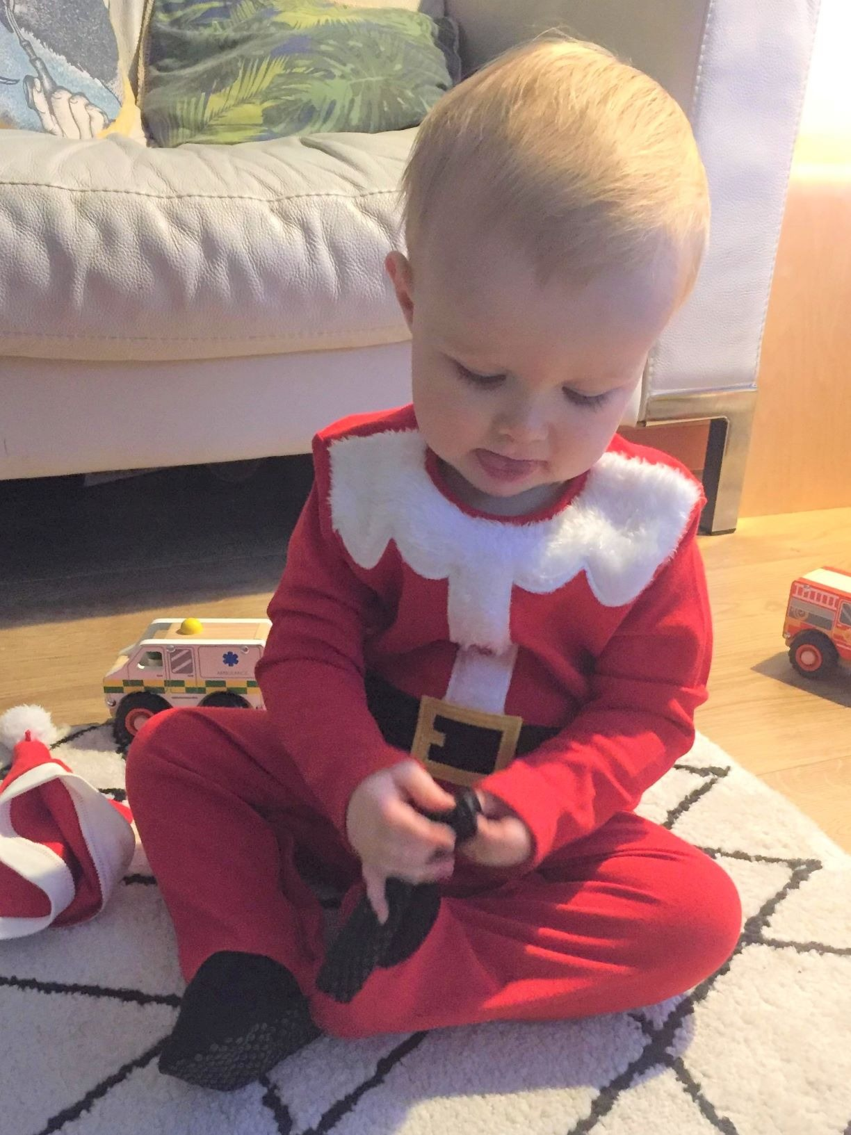 little boy santa outfit