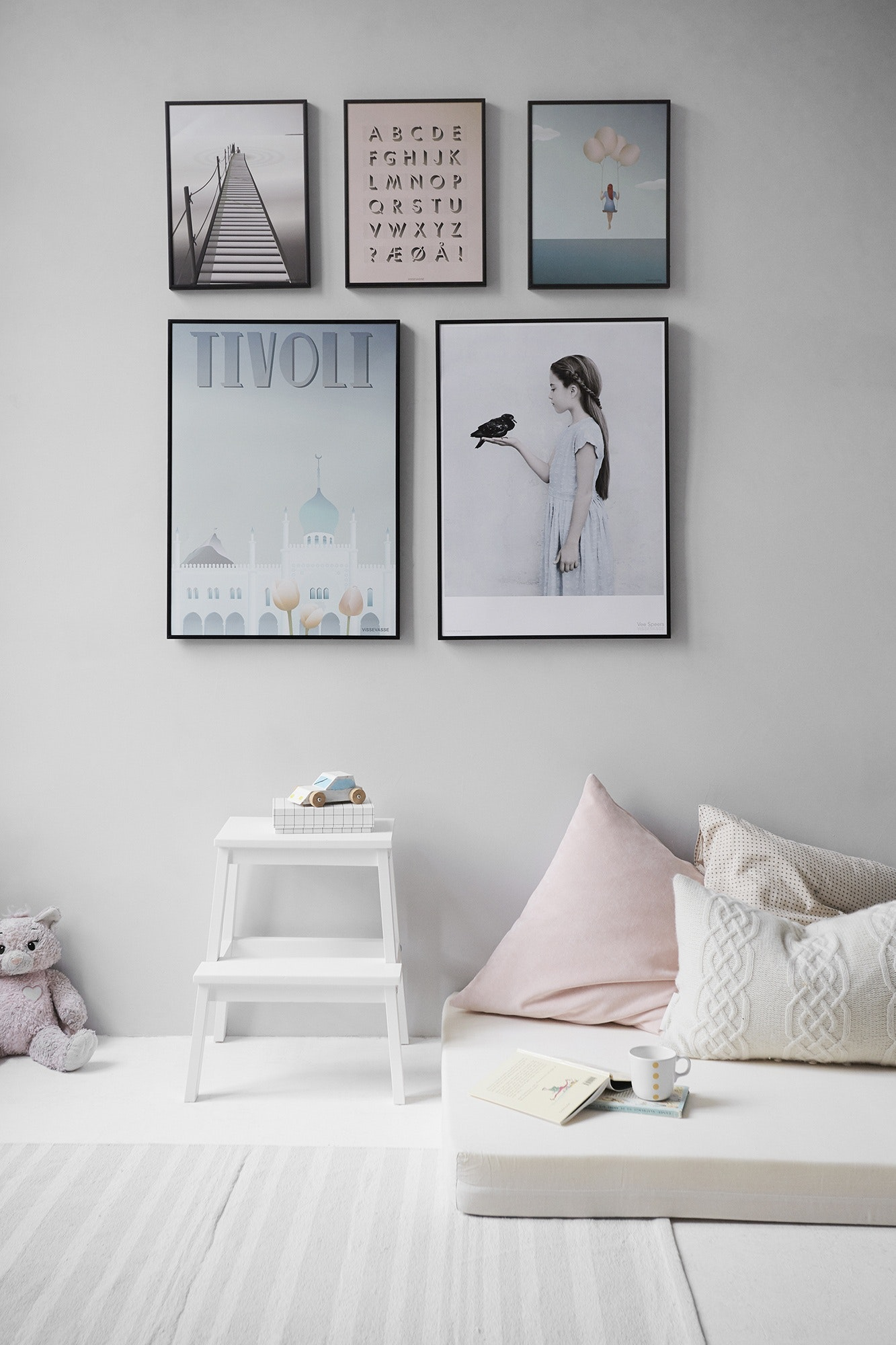 grey Scandi-inspired nursery