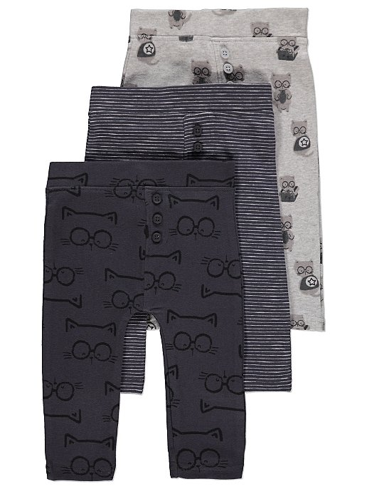 cat print trousers